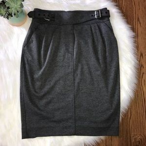 Anthropologie Maeve Gray Pencil Skirt Size 10